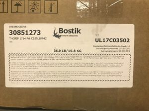 Bostik Thermogrip 1714 Low Temperature Hot Melt Adhesive