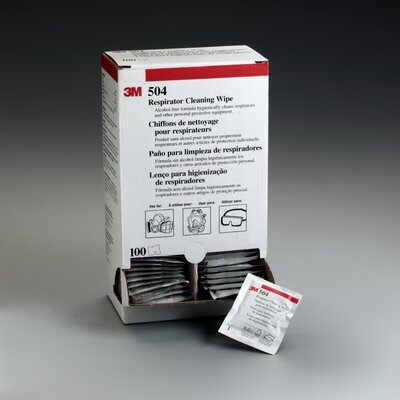 3M Respirator Cleaning Wipes 504